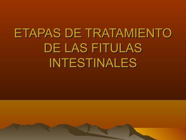 Etapas de tratamiento de las fitulas intestinales
