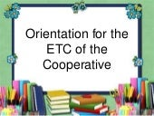 Orientation for Cooperative in Education and Training Committee
