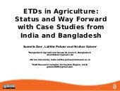 ETDs in Agriculture