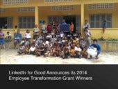 LinkedIn for Good announces this year's Employee Transformation Grant winners