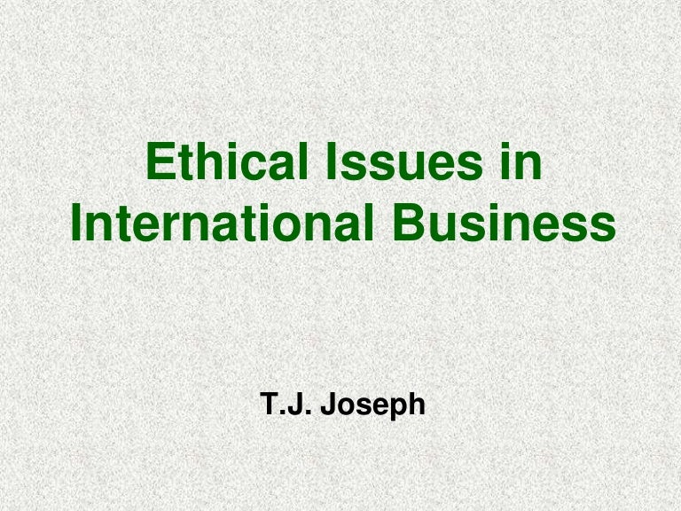 Ethical issues in ict.
