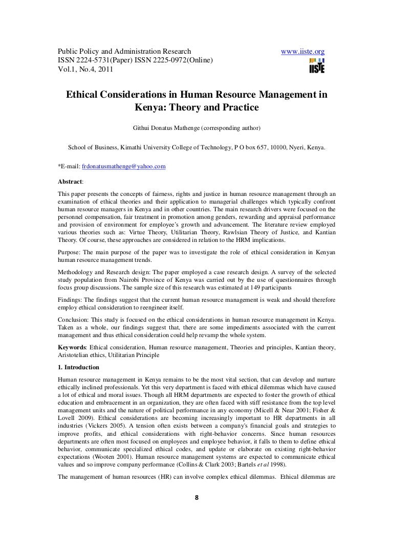ethics in human resource management essay medical essay topics med ...