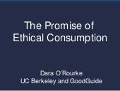 Ethical Consumption - MIT & Boston Review - Nov. 3, 2011