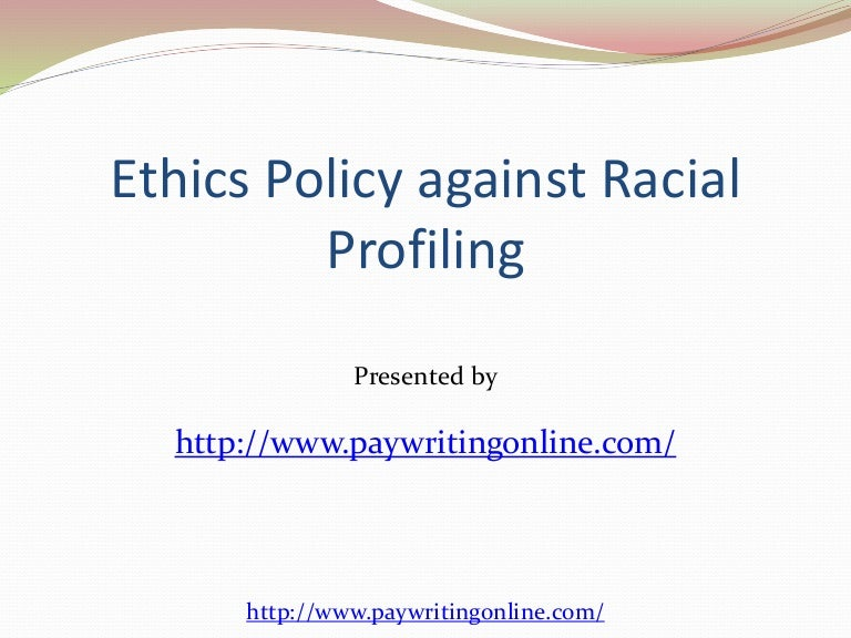 racial profiling in canada criminology essay - racial profiling in the dictionary is the assumption of criminality among ethnic groups: the alleged policy of some police to attribute criminal intentions to members of some ethnic groups and to stop and question them in disproportionate numbers without probable cause (racial profiling).