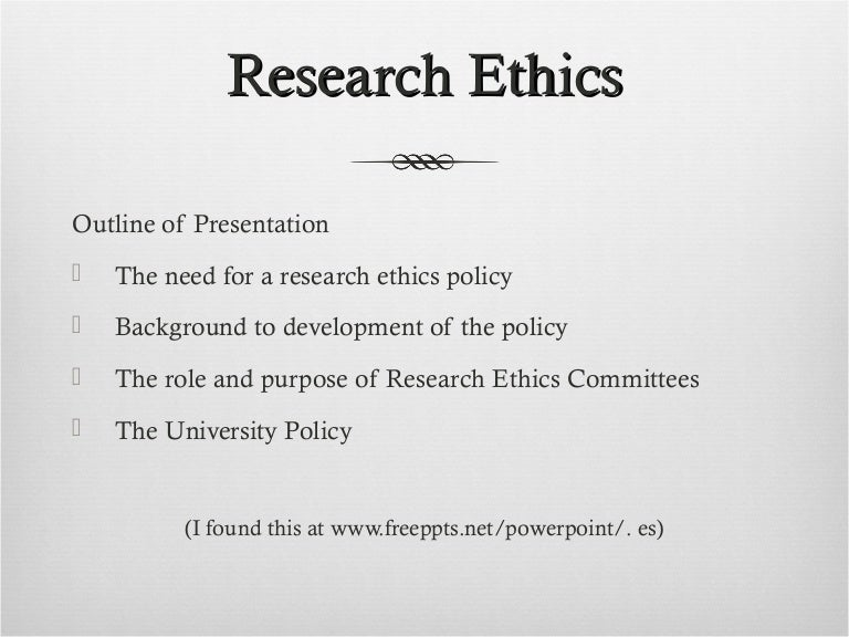 ethical research paper outline Business ethics across cultures article review paula plattner xmgt/216 june 23, 2013 swinton hudson business ethics across cultures article review the idea of globalized business ethics is an interesting idea, however what is considered ethical or moral in one culture, may not be if importance in another.