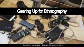 Gearing up for Ethnography at Midwest UX 2018