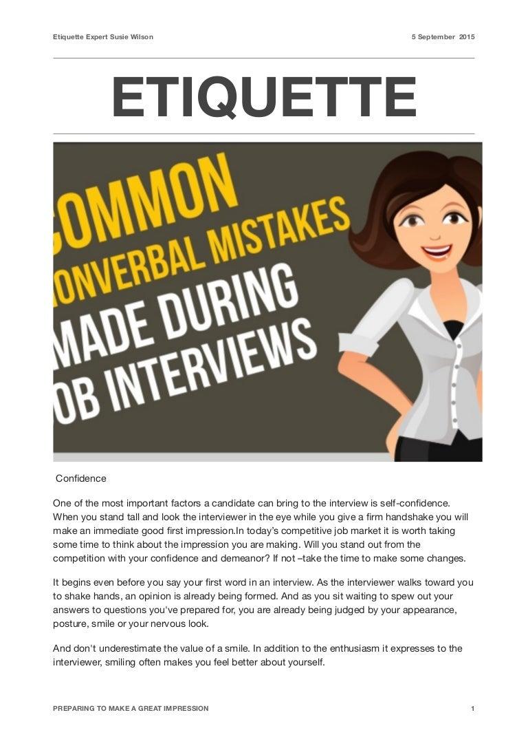 Common mistakes of etiquette 22
