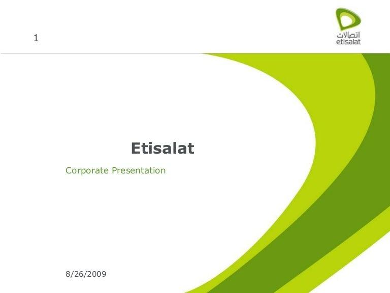 Etisalat Corporate Profile