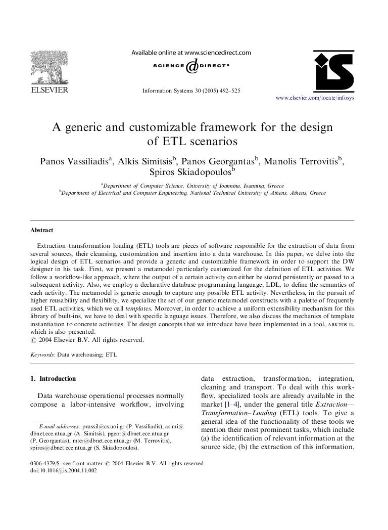Etl Design Document