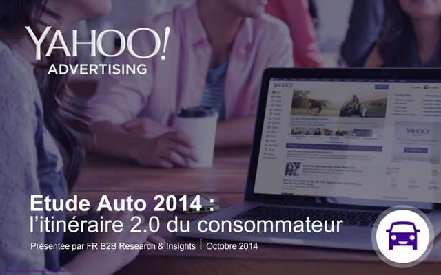 Etude auto 2014   l'itinéraire 2.0 du consommateur - Yahoo France