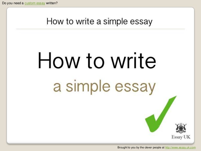 How to write a simple essay