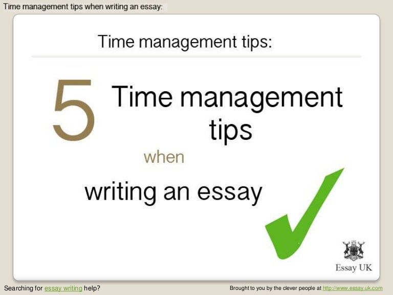 time management essay topics