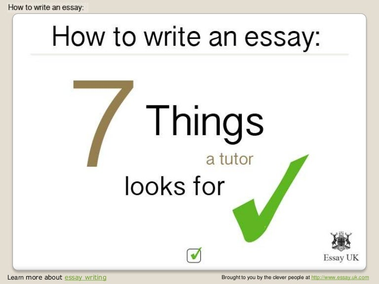 essay writing things a tutor will look for