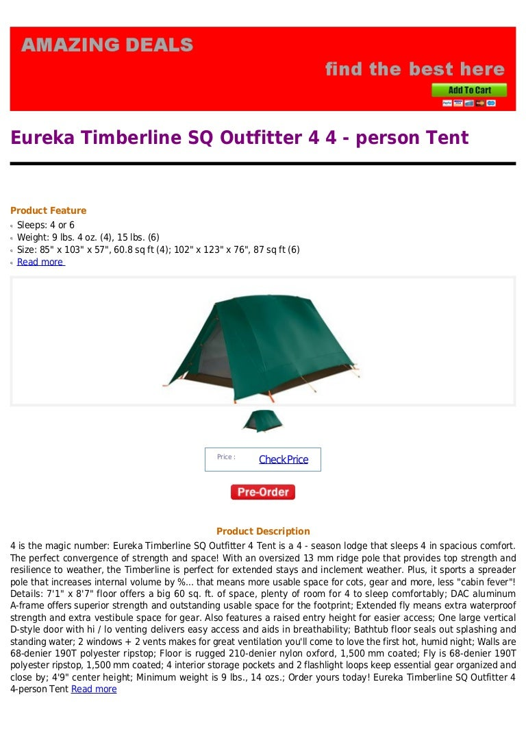 sc 1 st  SlideShare & Eureka timberline sq outfitter 4 4 person tent