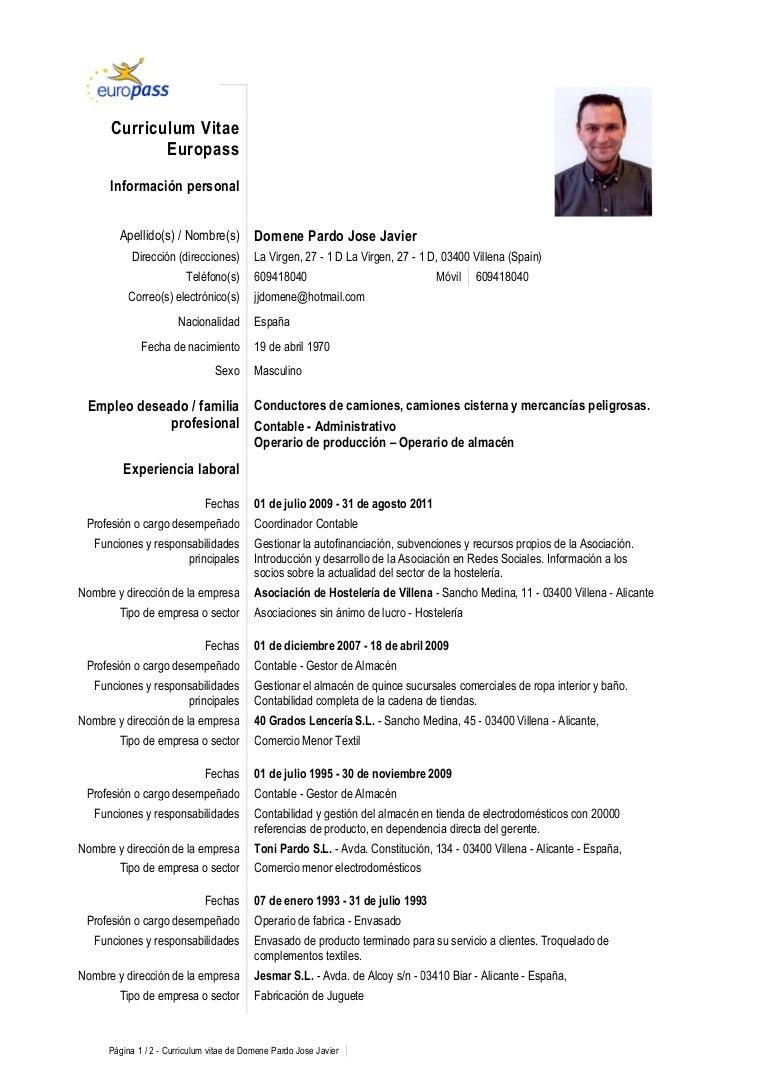 Dorable Muestra Funcional Del Currículum Servicios Sociales ...