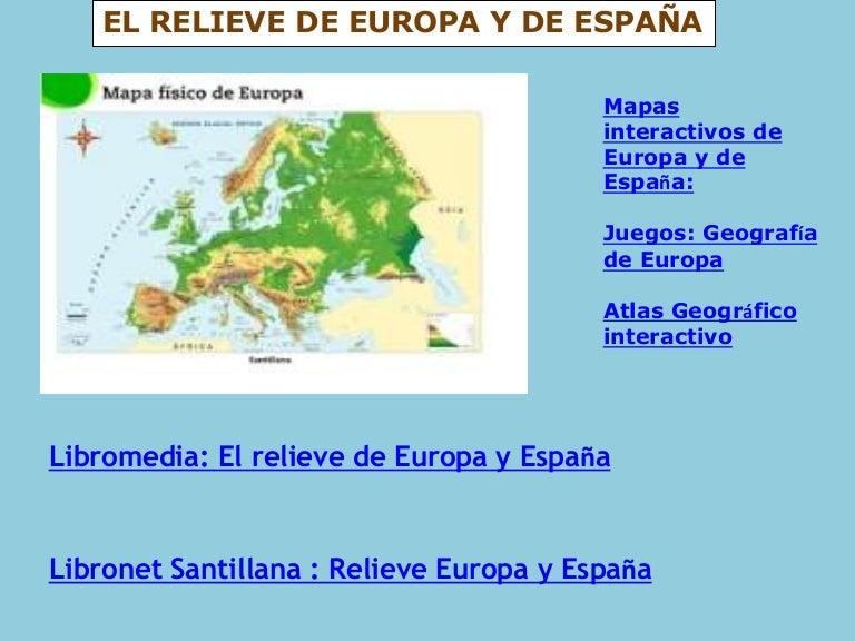 Europa y espaa fsicas