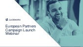 European partner campaigns launch webinar