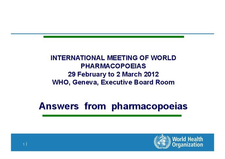 Pharmacopoeia european online dating