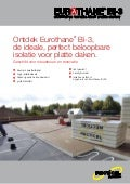 Recticel Insulation - Eurothane bi 3 productflyer