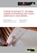 Recticel Insulation - Eurothane g productflyer