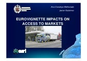 Eurovignette Impacts on Access to Markets