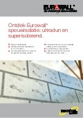 Recticel Insulation - Eurowall productflyer