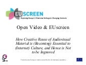 Open Video and EUscreen