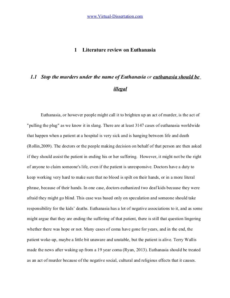 euthanasia literature review on euthanasia