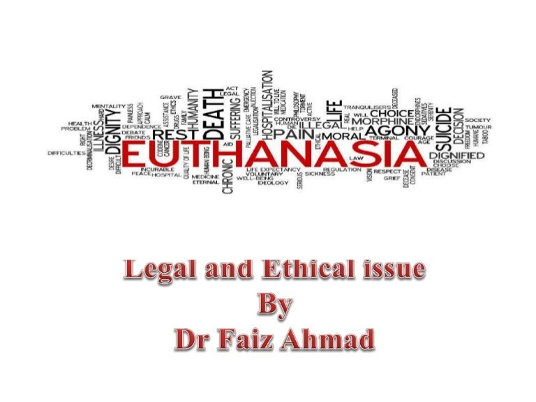 ethical issues surrounding euthanasia Euthanasia is the legal term for a medically assisted mercy killing however in most countries, euthanasia is illegal this form of euthanasia has the least number of issues the first issue is that the mental competency of the patient is always is question.