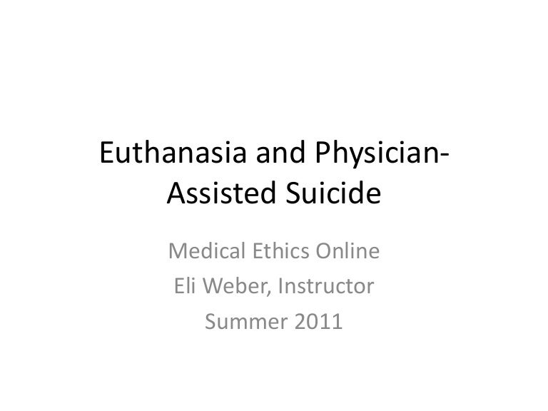 physician assisted suicide essay