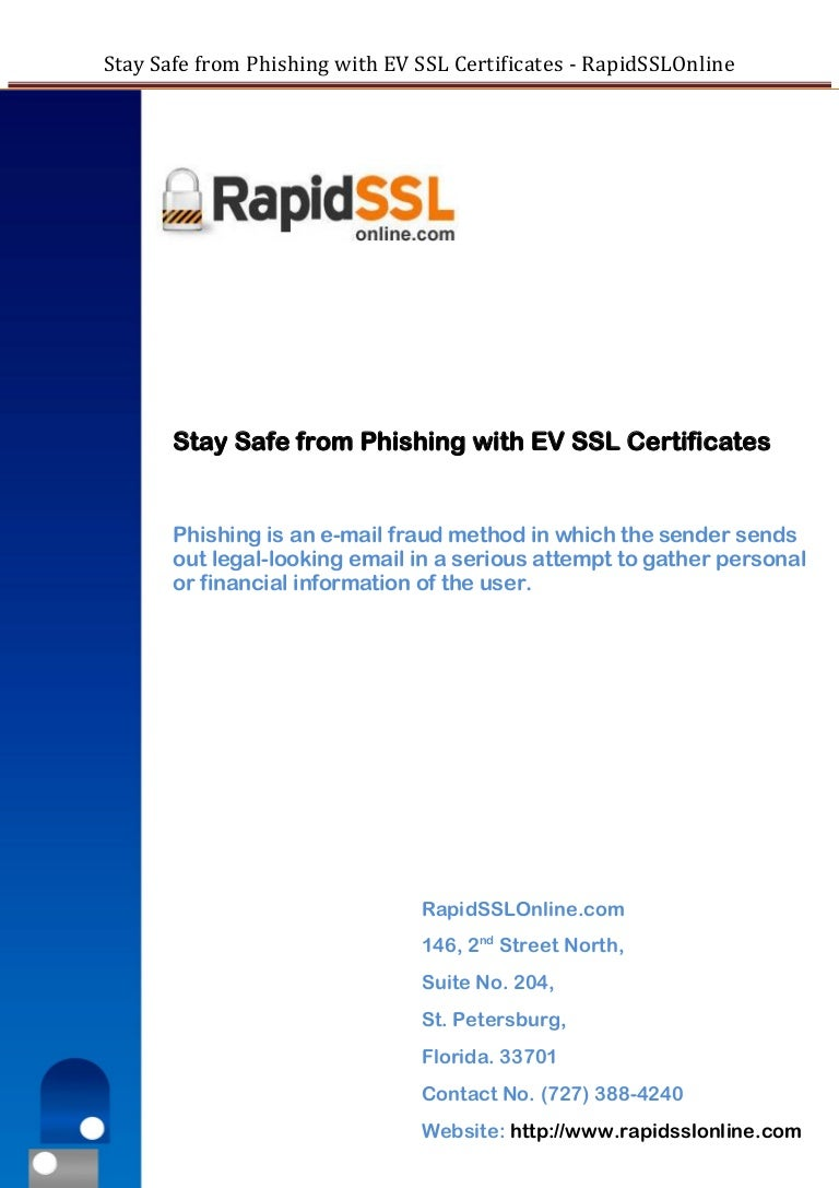 How ev ssl certificate works against phising rapidsslonline xflitez Images