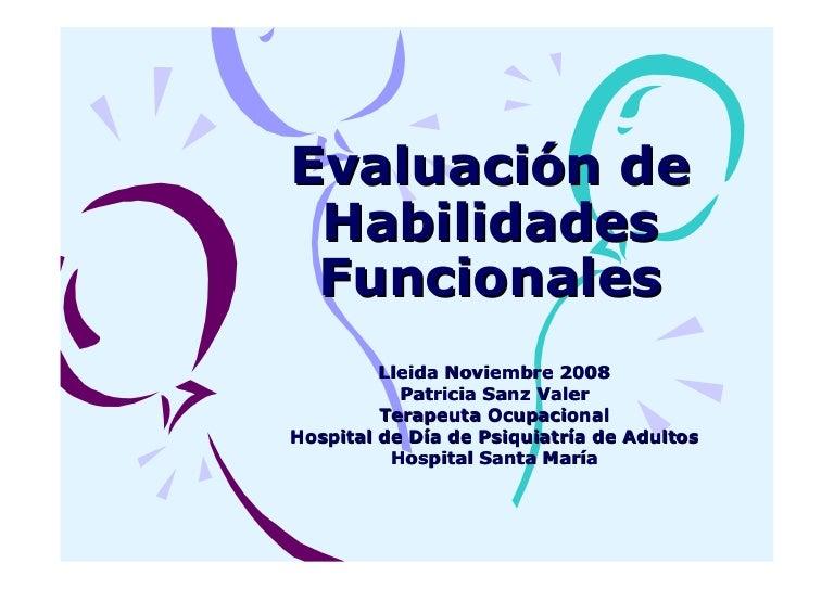 Evaluacion habilidades funcionales Salud Mental
