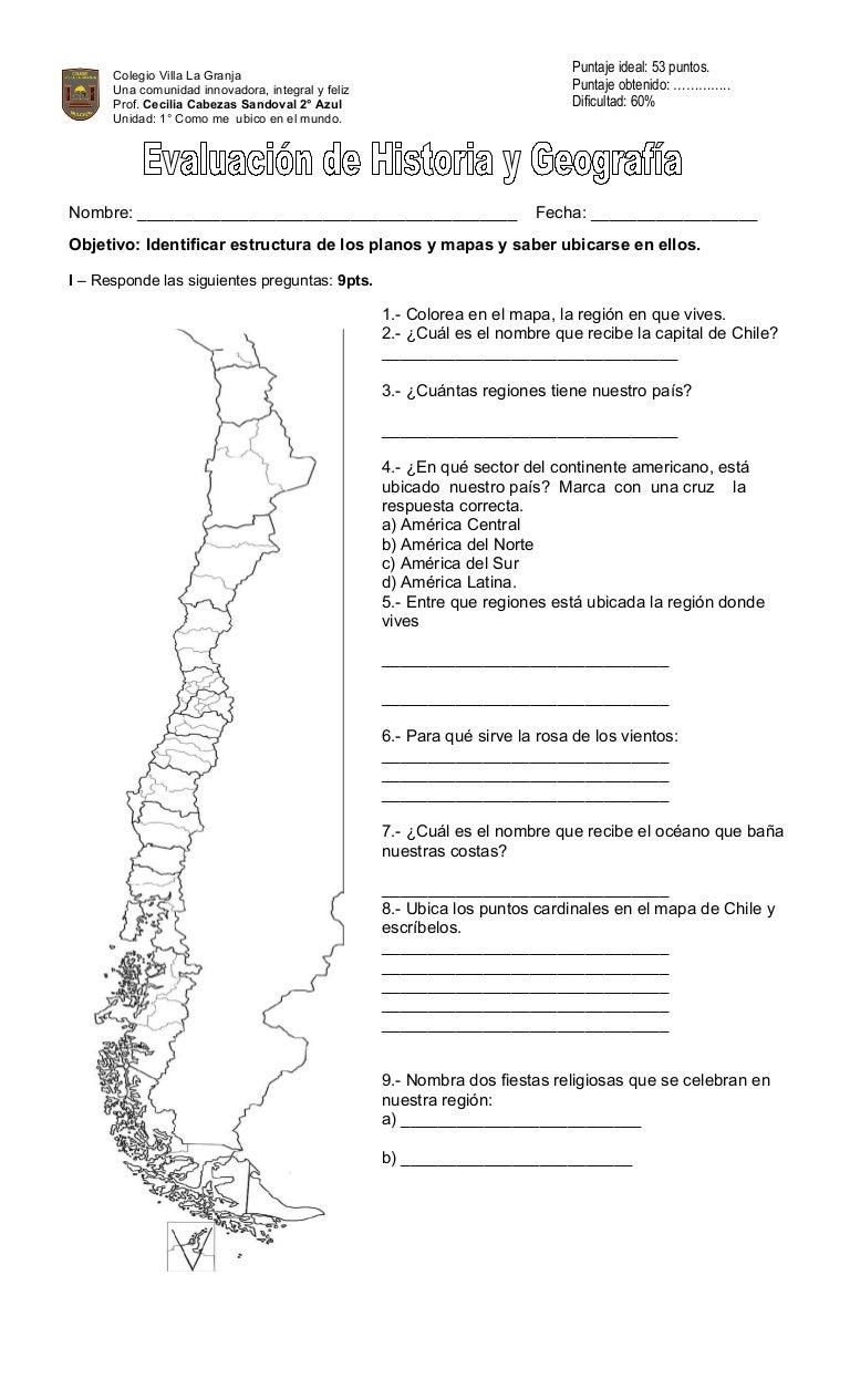 Evaluación mapas y planos