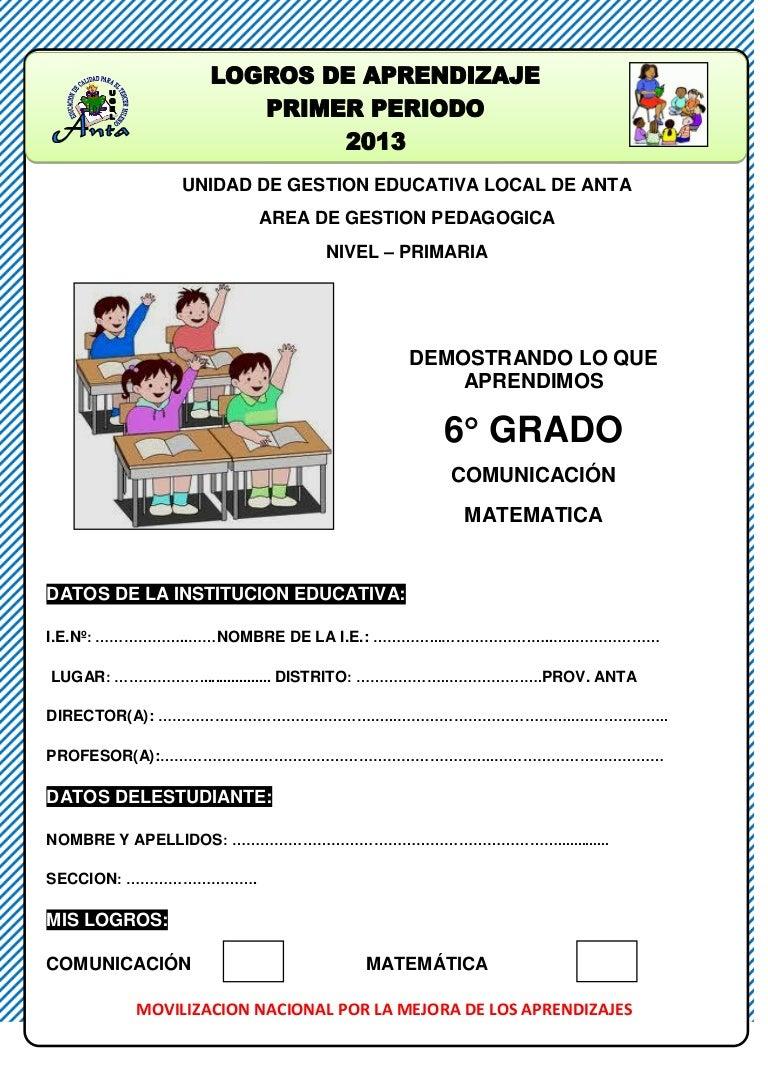 Evaluacion de sexto grado comunicacion y matematica rutas de aprendiz…