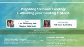 Preparing for SaaS Funding: Evaluating your Funding Options