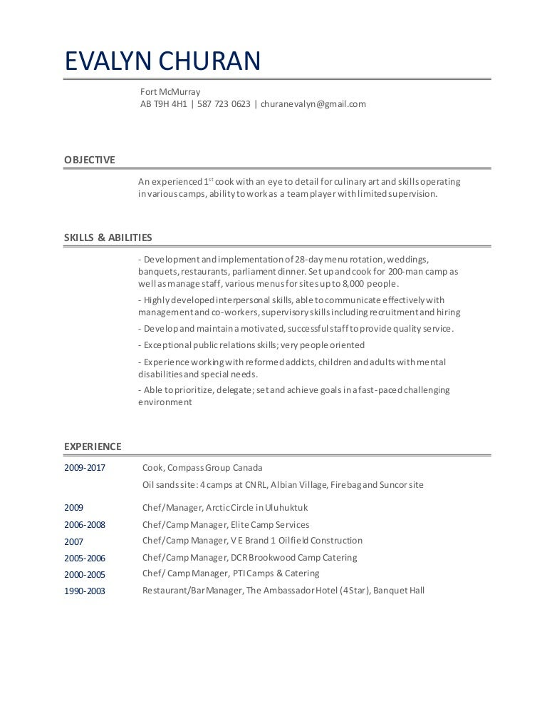 Awesome Camp Manager Resume Canada Image Collection - Administrative ...