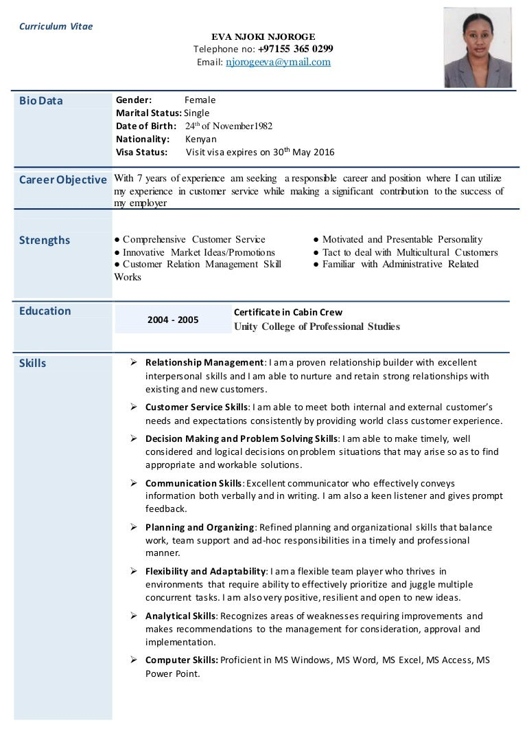 eva resume