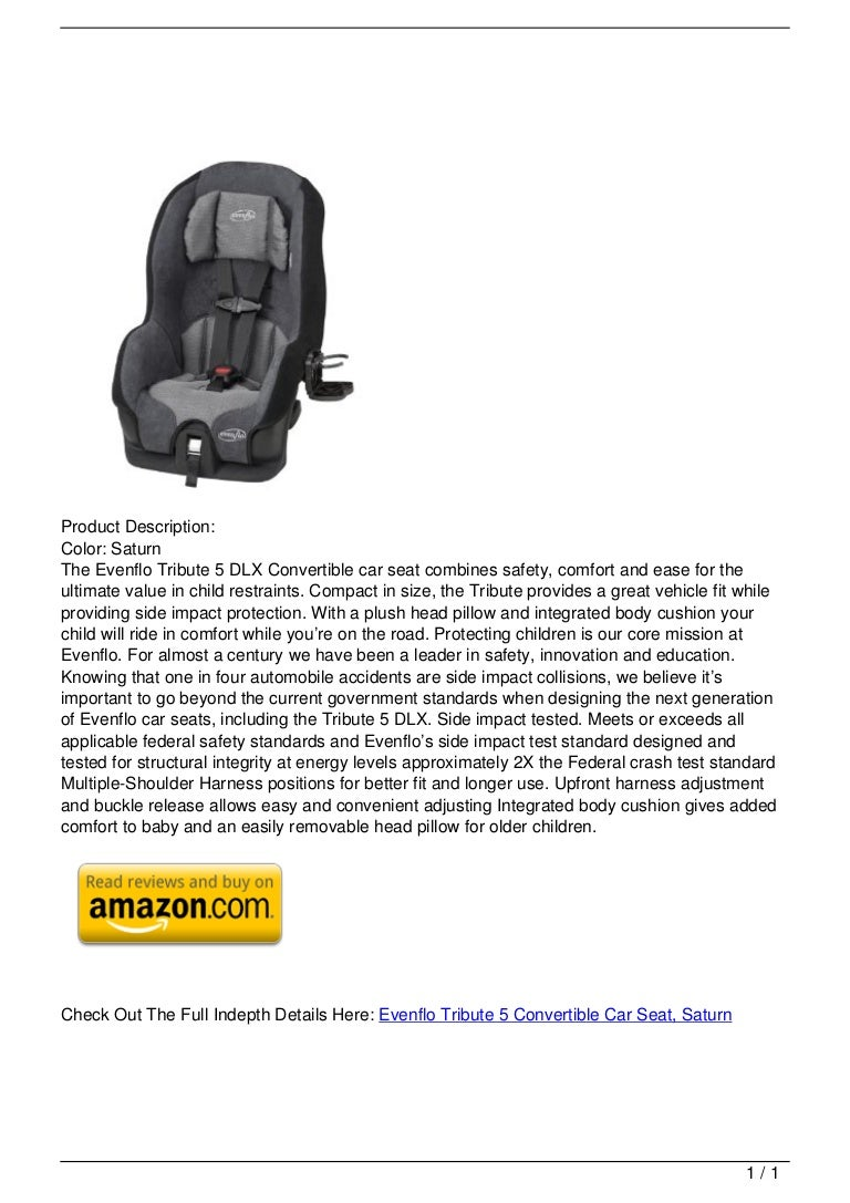 Evenflo Tribute 5 Convertible Car Seat, Saturn