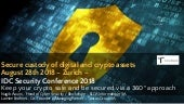 Secure custody of digital assets - IDC Security conference