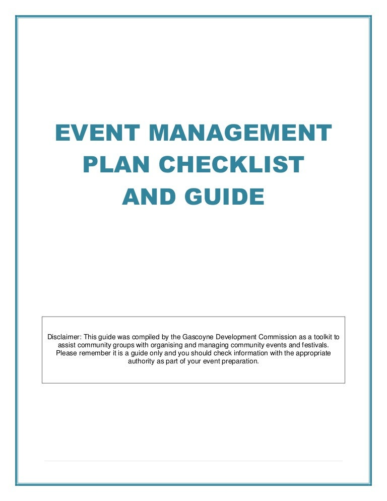 Event management plan checklist and guide pronofoot35fo Gallery