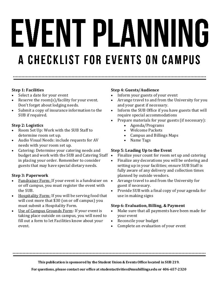 Planning A Capsule Wardrobe: Event Planning Checklist