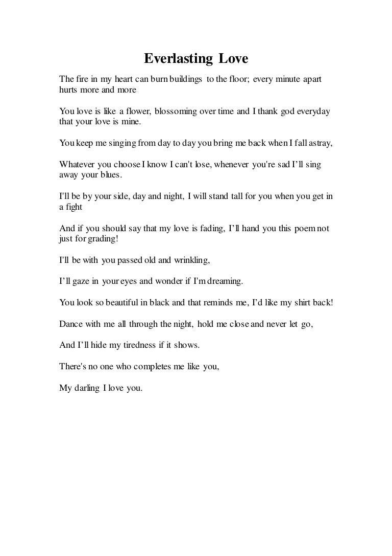 Everlasting Love Poem