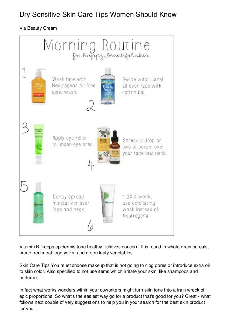 Dry Sensitive Skin Care Tips Women Should Know