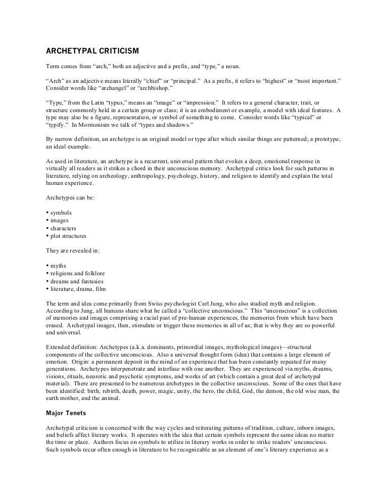 archetypal criticism let review