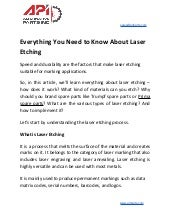 Everything you need to know about laser etching