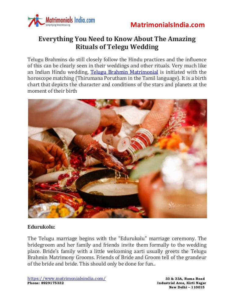 Everything You Need to Know About The Amazing Rituals of Telegu Wedding