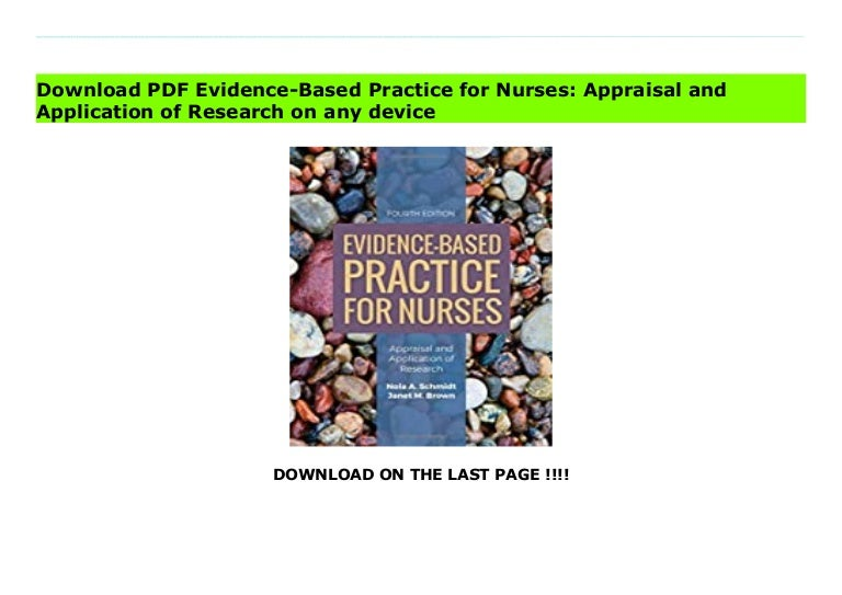 evidencebased practice for nurses appraisal and application of research 210927192749 thumbnail 4