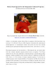 Evidence based approach for the management of asthma in pregnancy