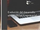 Evolucion del desarrollo en movilidad empresarial