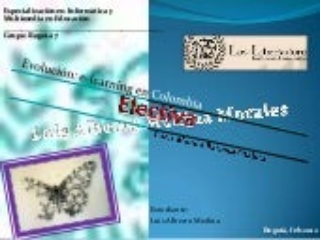 Evolucion e learning en colombia